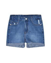 Lola Denim Shorts - Blue