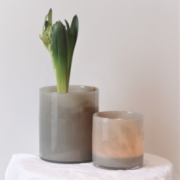 Lyric candleholder S - Grey