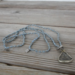 Buddha drop necklace - Blue