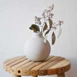 Collar Vase 12 cm - Light Grey