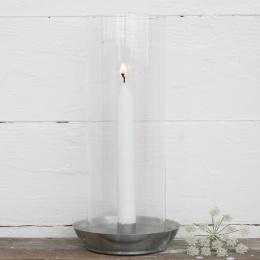 Lanterna med Glas - Zink