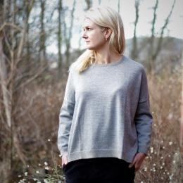 Jill Gold Block Oversized Sweater - Grey