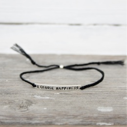 I choose happiness - Black/Silver