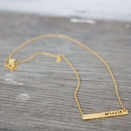 Balance hammered necklace - Gold