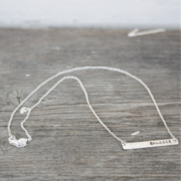 Balance hammered necklace - Silver
