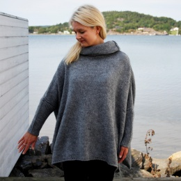Christiania sweater - Petrolgrey