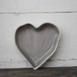 Hjärtformad Pajform Liten - Grå