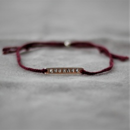 Courage - Burgundy/Silver