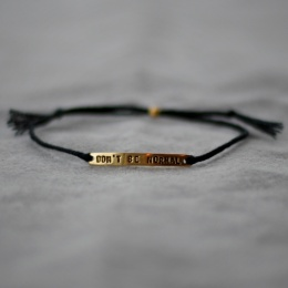 Don't Be Normal - Black/Gold