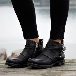 Låga Boots - Nero
