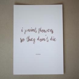 """Darling's kort - """"flowers"""""""