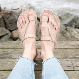 Sandaler Naturläder - Natur