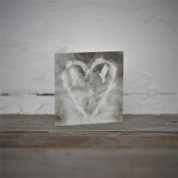 Litet Kort - Feather Heart