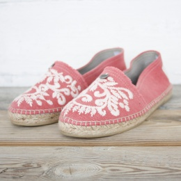 Oddspadrillos Embroidered - Misty Pink