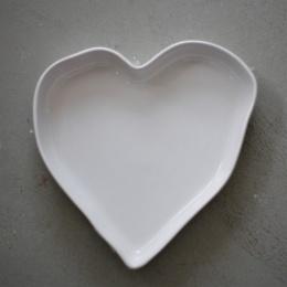 Hjärtformad Pajform - Vit