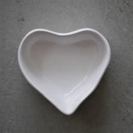 Hjärtformad Pajform Mini - Vit
