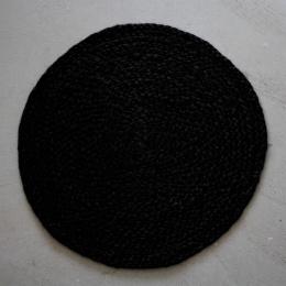 Tablett Rund Hampa - Svart