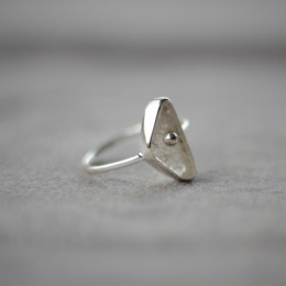 Rosequarts Ring - Silver