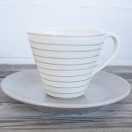 Randig kopp frukost - Vit/Grå