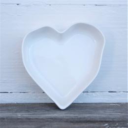 Hjärtformad Pajform Liten - Vit