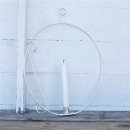Ljusring oval 39cm - Silver