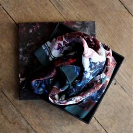 Silk Scarf Mini - Hortensia