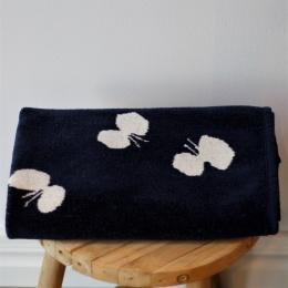 Baby Bomullsfilt Fjäril - Marinblå