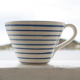 Frukost Kopp - Vit/Blå