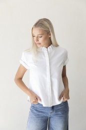 Mila Denim Shirt Organic - Ecru