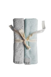 Mini blankets - Mint/Grey