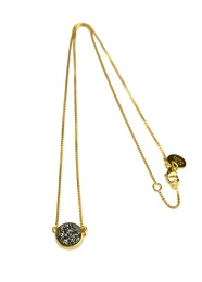 Frances Druzy Necklace - Gold Grey