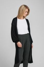 Nubia Long Cardigan - Caviar