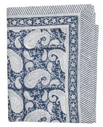 Duk Big Paisley 170x270cm - Navy Blue