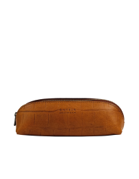 Pencil Case Small - Cognac Croco