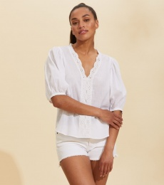 Portofino Blouse - Bright White