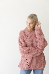 Tang Knitted Sweater - Rosé