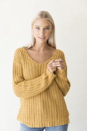 Tory Knitted Sweater Organic - Mustard