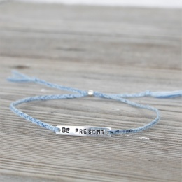 Be present - Silver/Blue