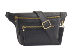 Beck's Bum Bag - Black Croco Classic Leather