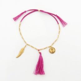 """Armband """"Charms"""" - rosa"""