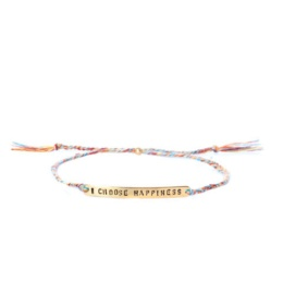 "Armband ""I choose happiness"" - multi"