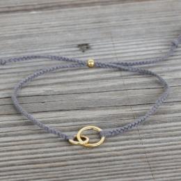 """Armband """"Connected"""" - grå"""
