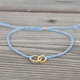 Connected - Gold/Light Blue