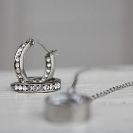 Andorra Earrings Mini - Steel