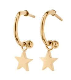 Bright Night Earrings Star - Gold