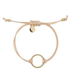 Circle Cord Bracelet - Nature/Gold