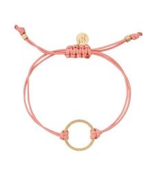 Circle Cord Bracelet - Pink/Gold