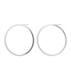 Circle Earrings - Steel