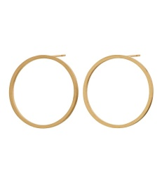 Circle Earrings - Matt Gold