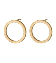 Circle Earrings Small - Matt Gold